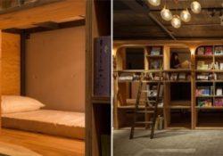 В Токио открылся необычный книжный хостел