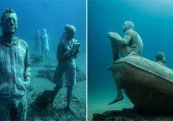 Первый подводный музей скульптур в Европе
